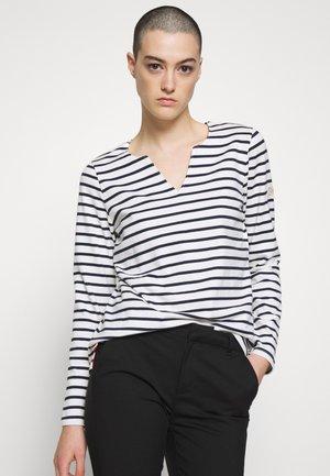 HARBOUR NOTCH NECK - Långärmad tröja - white