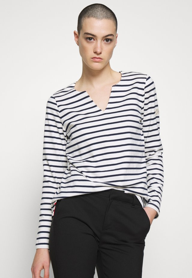 HARBOUR NOTCH NECK - Long sleeved top - white