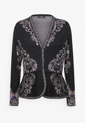 FLORAL PATTERN - Kardigan - black