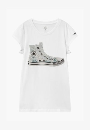 FLIP SEQUIN CHUCK TEE - T-shirt con stampa - white