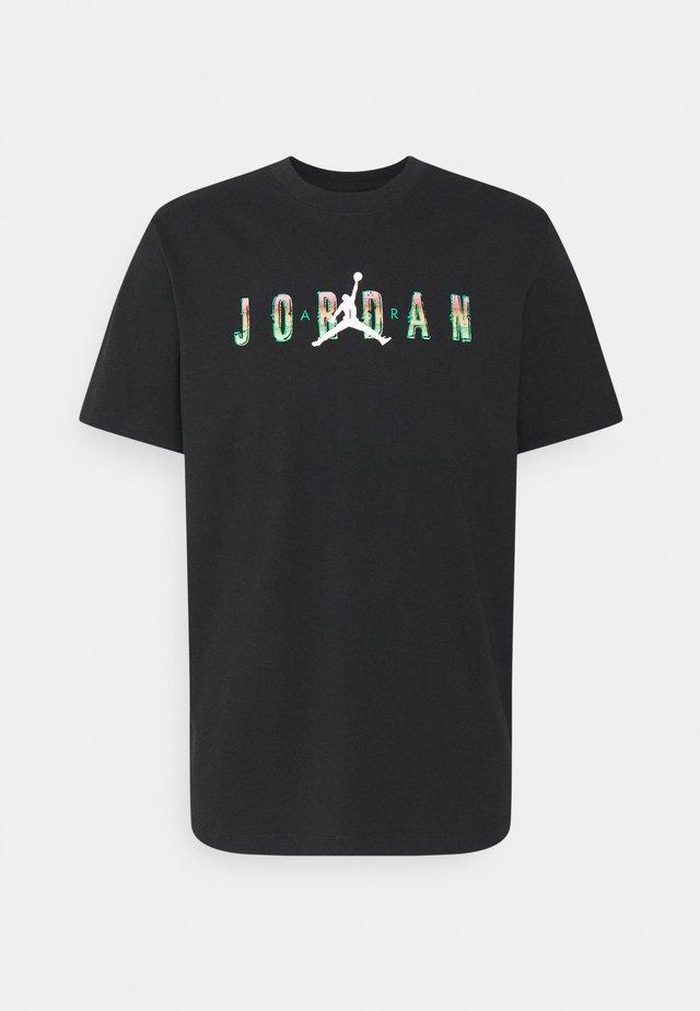 CREW - Print T-shirt - black