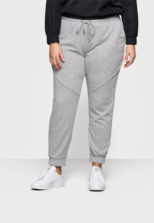 NMMISA PANTS - Trainingsbroek - light grey melange
