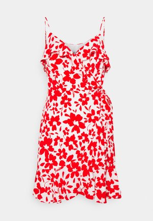 BEA RUFFLE MINI DRESS - Robe d'été - ruby