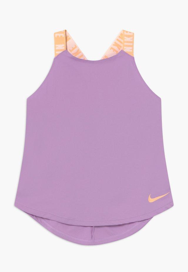 DRY TANK ELASTIKA - Treningsskjorter - violet star/orange chalk