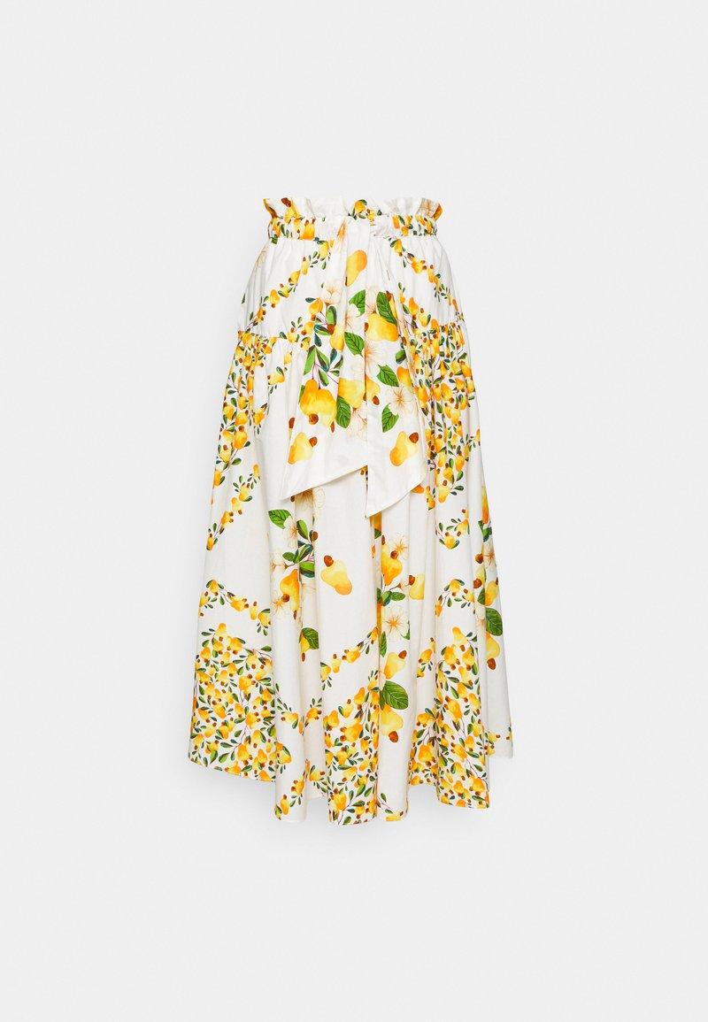 Farm Rio - CASHEW SCARF MAXI SKIRT - Maxi skirt - off white