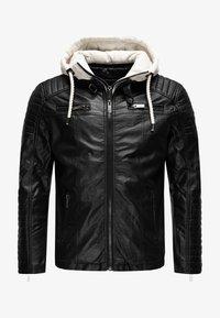 Red Bridge - ILLINOIS CHICAGO - Faux leather jacket - schwarz-weiß - 0