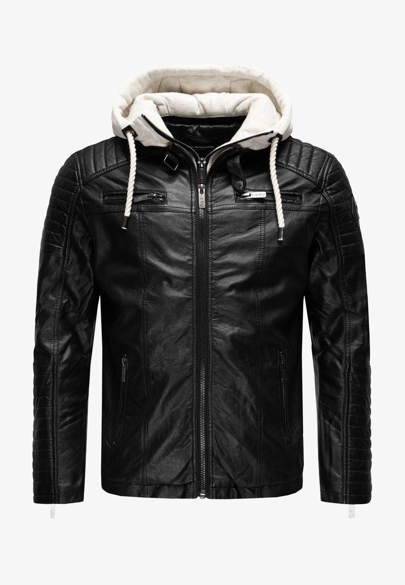 Red Bridge - ILLINOIS CHICAGO - Faux leather jacket - schwarz-weiß