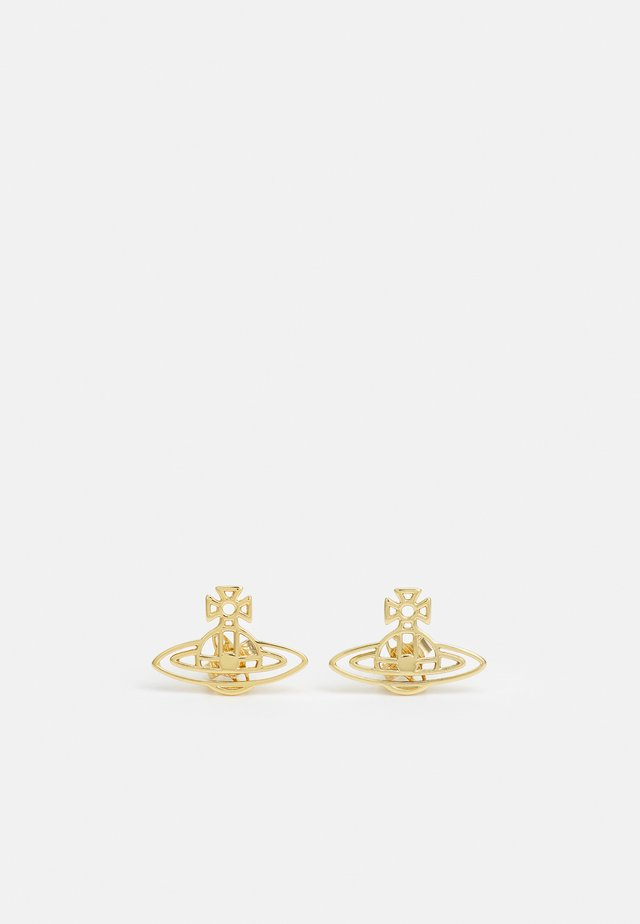 THIN LINES FLAT ORB STUD EARRINGS - Earrings - gold-coloured