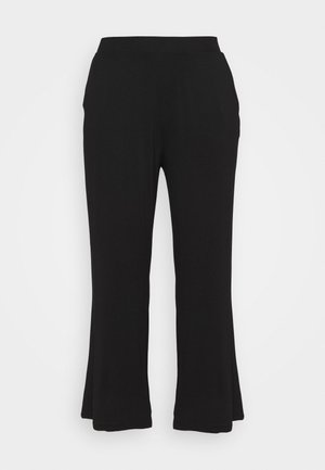 WIDE LEG TROUSERS REGULAR - Joggebukse - black