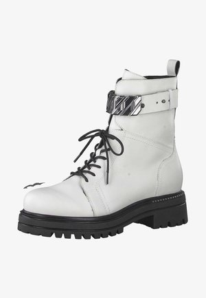 Cowboy/biker ankle boot - white 100