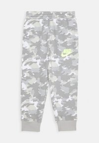 Nike Sportswear - CRAYON CAMO - Tracksuit bottoms - light smoke grey/smoke grey/volt - 0