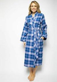 Cyberjammies - Dressing gown - blue chks - 0