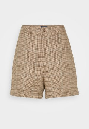 LYDA SHT-FLAT FRONT - Shorts - brown houndstooth