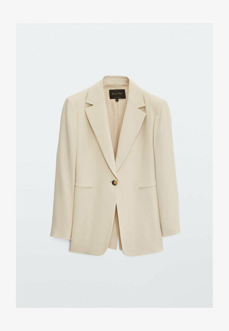 Massimo Dutti - Krótki płaszcz - beige