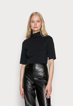 ELA ROLL NECK SHORT - T-shirt basic - black