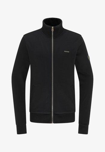 TRAYNE - Zip-up sweatshirt - black