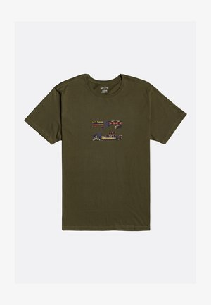 TEAM WAVE - T-shirt con stampa - military
