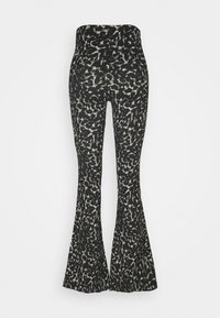 Topshop - CRINKLE FLARE - Trousers - khaki - 1
