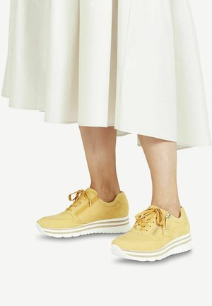 LACE UP - Trainers - yellow