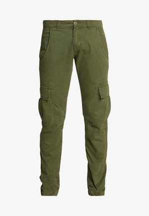 Cargo trousers - dark oliv