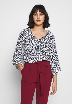 FLORAL SILHOUTTE TOP - Camicetta - ink