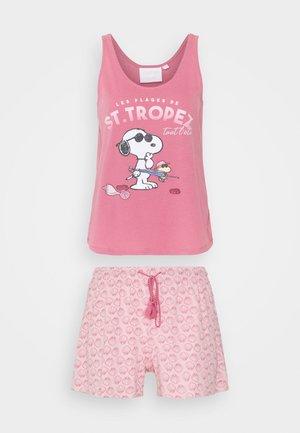 STRAPS SHORT PANT - Pyjamas - dark pink
