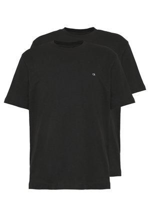 LOGO 2 PACK - Basic T-shirt - black/black
