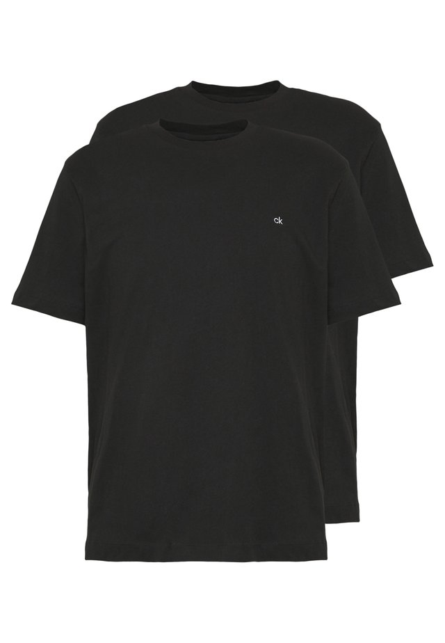 LOGO 2 PACK - Basic T-shirt - black/black