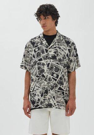 Skjorta - mottled black