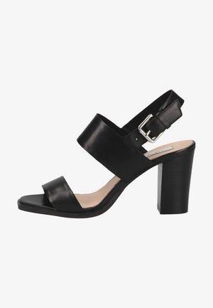 Sandalen met hoge hak - black leather