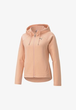 Zip-up hoodie - apricot blush