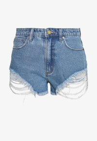 Abrand Jeans - A HIGH RELAXED SHORT - Denim shorts - salty blue - 4