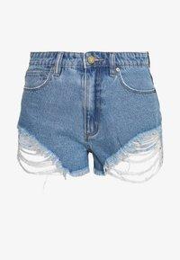 A HIGH RELAXED SHORT - Denim shorts - salty blue