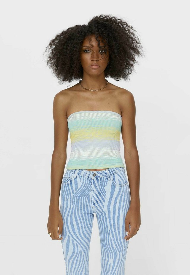 MEHRFARBIGES BANDEAU TOP  - Toppe - multi coloured
