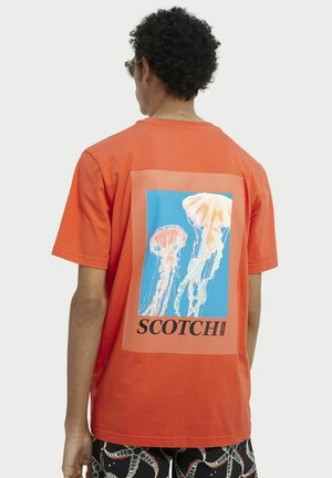 Print T-shirt - signal red