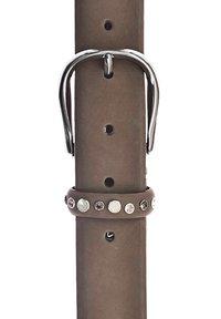 b.belt - LEDER-NIETENGÜRTEL ANNE - Belt - taupe - 2