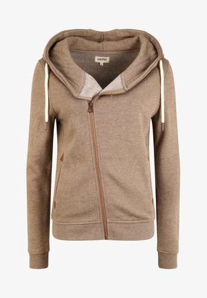 VICKY - Zip-up sweatshirt - sand melan