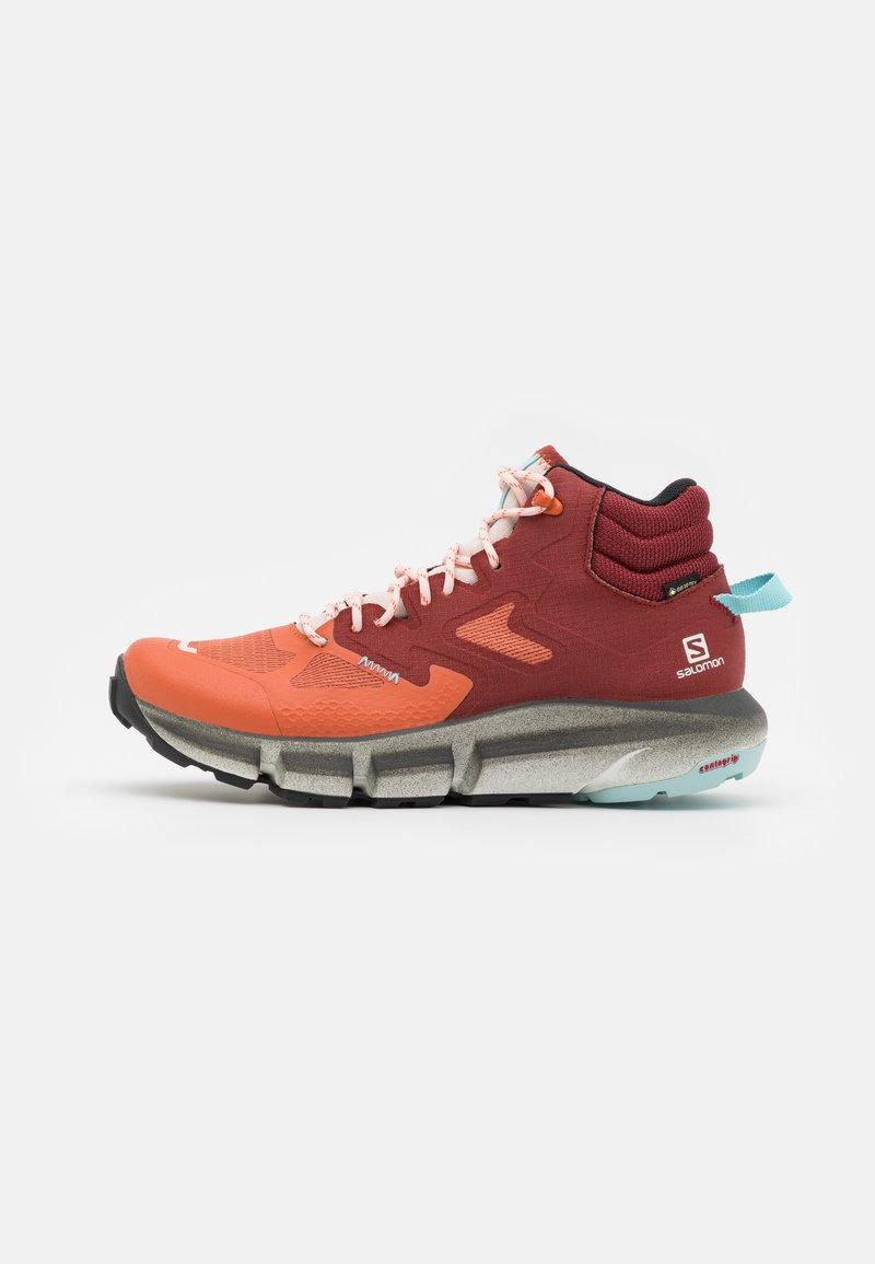 Salomon - PREDICT HIKE MID GTX - Scarpa da hiking - mecca orange/madder brown/crystal blue