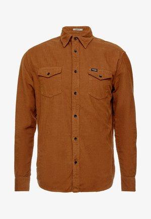 FLAP - Shirt - russet brown