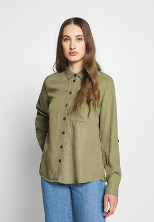 NMMILSA ENDI BUTTON DETAIL - Blouse - olive
