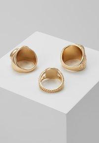 Burton Menswear London - LION HEAD RING SET - Anello - gold-coloured - 2