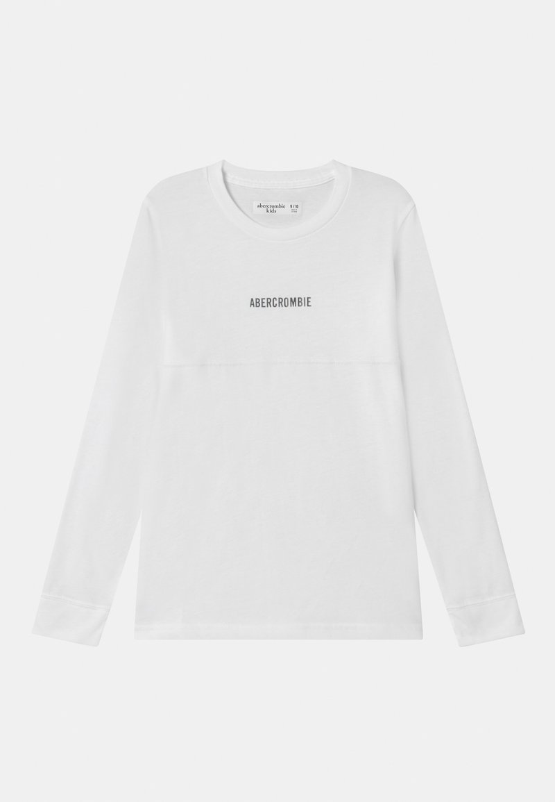 Abercrombie & Fitch - NOVELTY - Long sleeved top - white solid