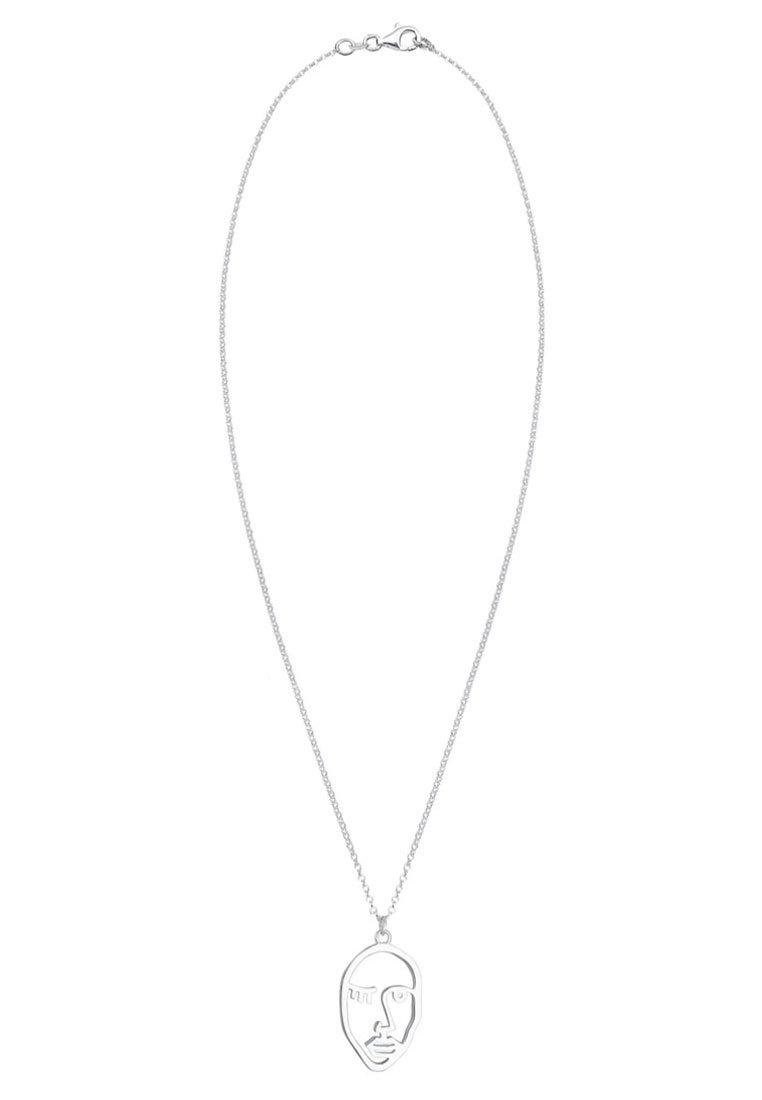 Elli Erbskette Twinkle Face Design Anhänger - Halskette Silver-coloured/silberfarben