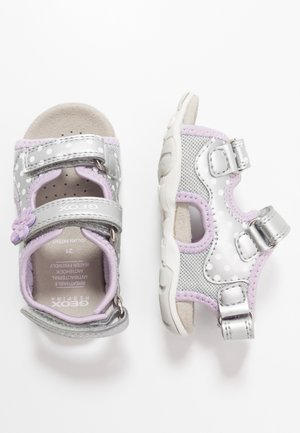 AGASIM GIRL - Baby shoes - silver/lilac