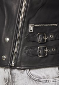 Diesel - L-IGE-NEW - Leather jacket - black - 3