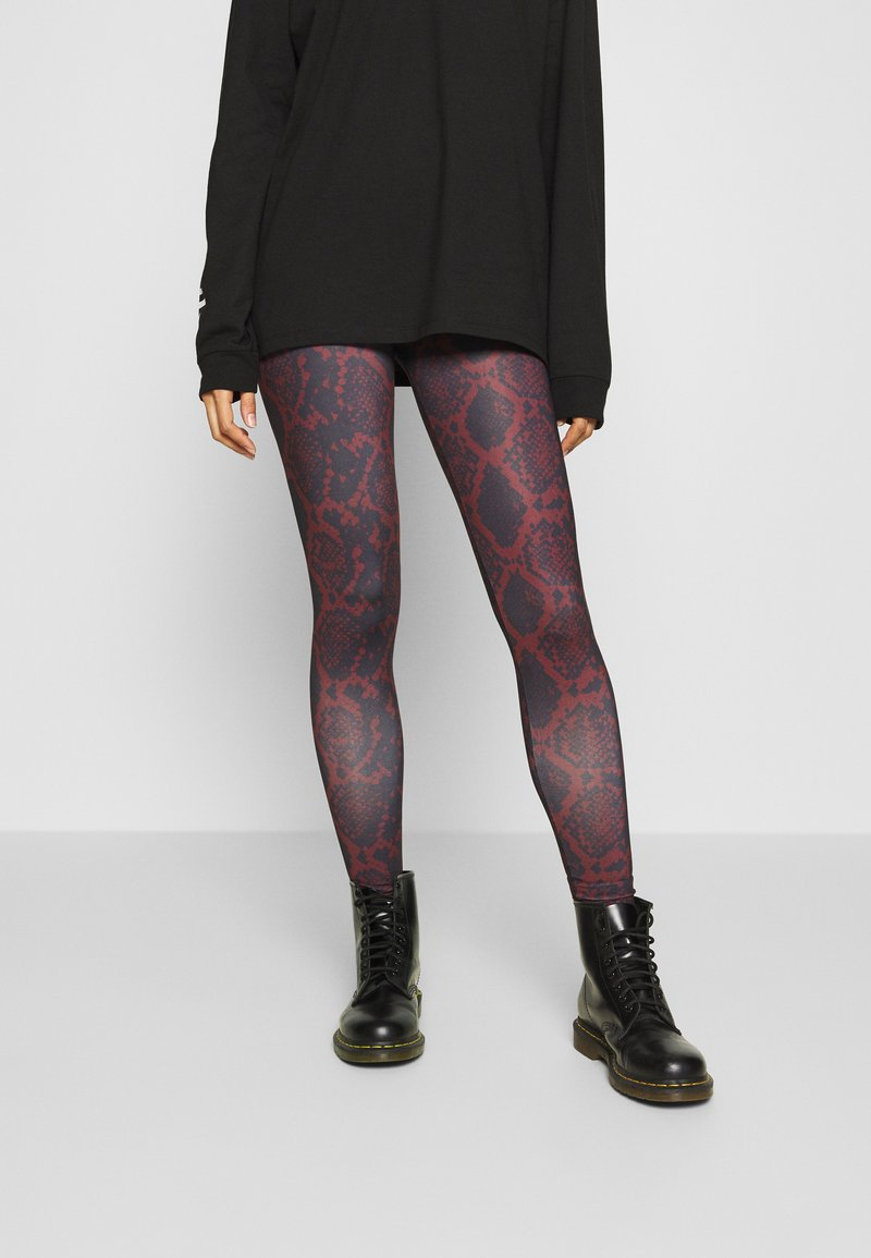 ONLY - ONLARIA LONG - Leggings - Trousers - bordeaux