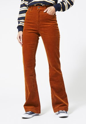 Flared Jeans - toffee