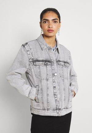 NMFIONA JACKET - Kurtka jeansowa - light grey denim