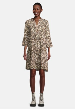 Jersey dress - brown/camel