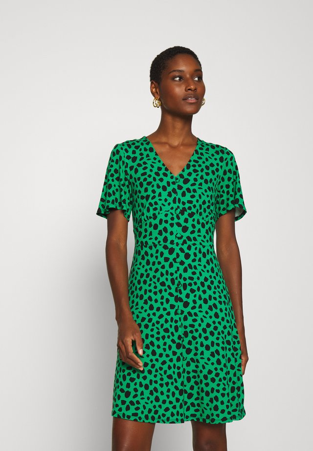 SPOT BUTTON THROUGH TEA DRESS - Jersey dress - multicolored